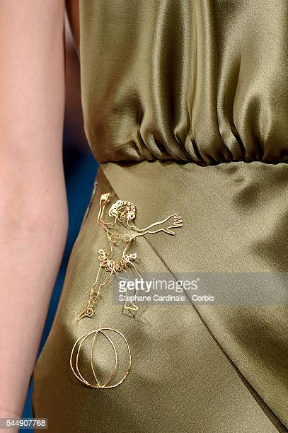 Model walks the runway during the Schiaparelli Haute Couture Fall/Winter 2016-2017 show as part of Paris Fashion Week on July 4, 2016 in Paris,...