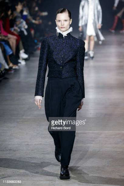 A model walks the runway during the Shiatzy Chen show as part of the Paris Fashion Week Womenswear Fall/Winter 2019/2020 on March 04 2019 in Paris...