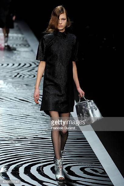A model walks the runway during the Shiatzy Chen show as part of the Paris Fashion Week Womenswear Fall/Winter 20142015 on March 4 2014 in Paris...