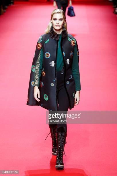 Model walks the runway during the Shiatzy Chen show during Paris Fashion Week Womenswear Fall/Winter 2017/2018 on March 7, 2017 in Paris, France.