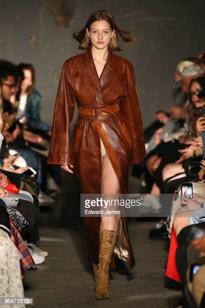 A model walks the runway during the Situationist Fall/Winter 2018/2019 Collection fashion show at MercedesBenz Fashion Week Tbilisi on May 4 2018 in...