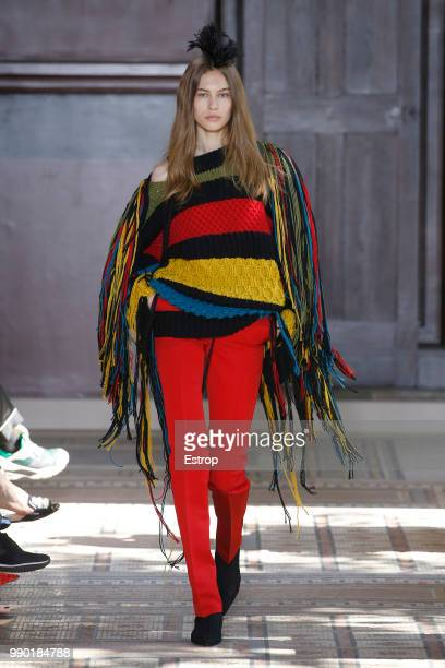 A model walks the runway during the Sonia Rykiel Haute Couture Fall Winter 2018/2019 show as part of Paris Fashion Week on July 1 2018 in Paris France