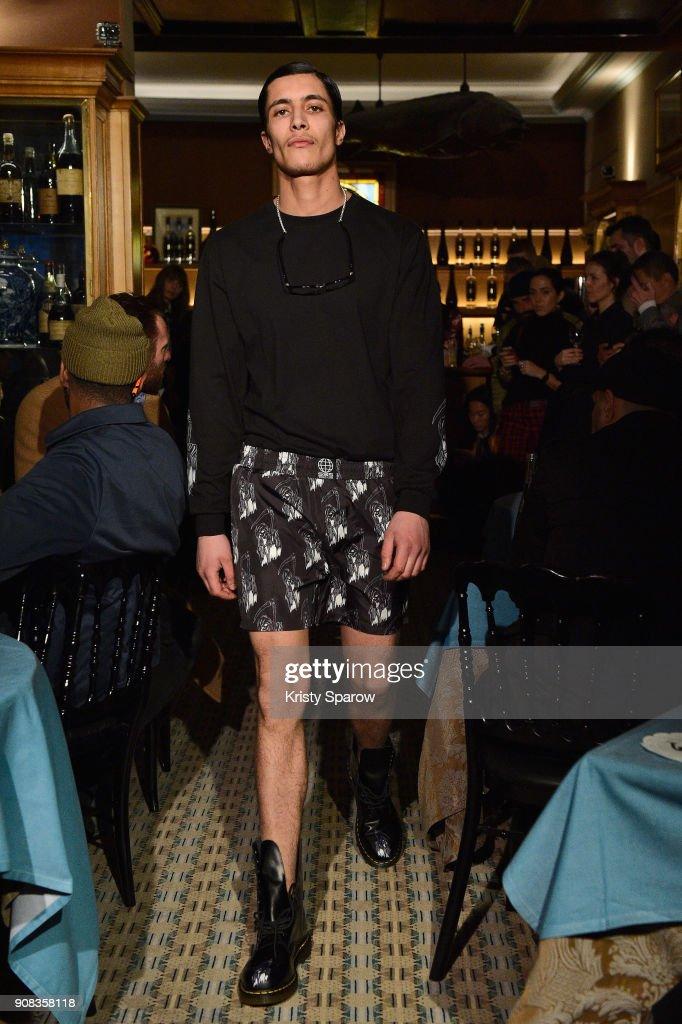 SSS World Corp X Wes Lang - Runway - Paris Fashion Week - Menswear F/W 2018-2019 : News Photo