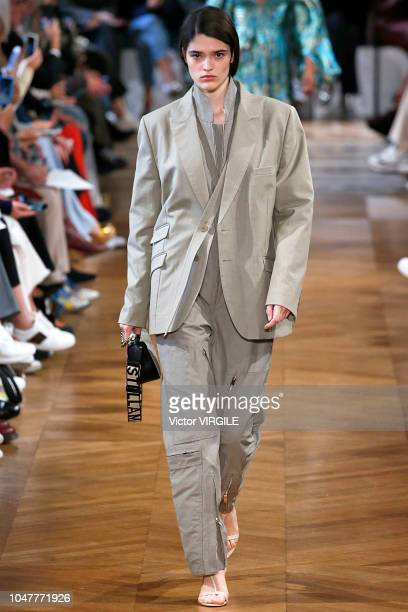 A model walks the runway during the Stella McCartney Ready to Wear fashion show as part of the Paris Fashion Week Womenswear Spring/Summer 2019 on...