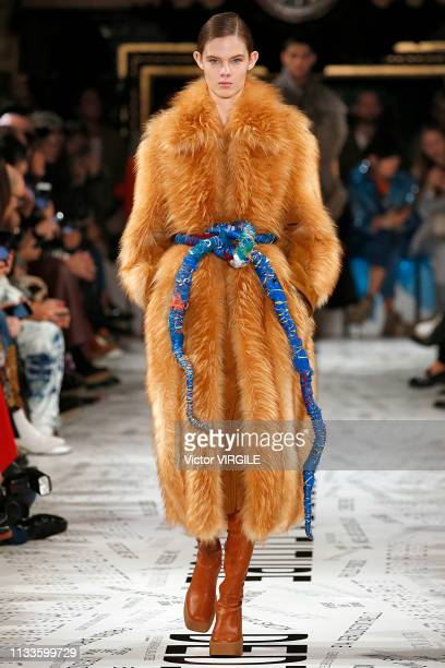 Model walks the runway during the Stella McCartney Ready to Wear fashion show as part of the Paris Fashion Week Womenswear Fall/Winter 2019/2020 on...