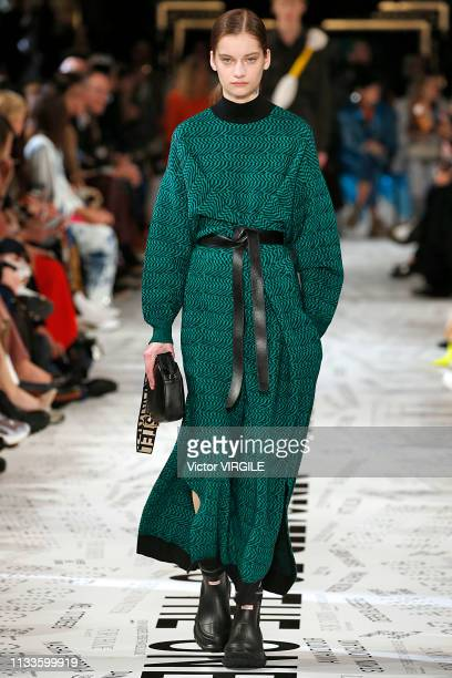 A model walks the runway during the Stella McCartney Ready to Wear fashion show as part of the Paris Fashion Week Womenswear Fall/Winter 2019/2020 on...