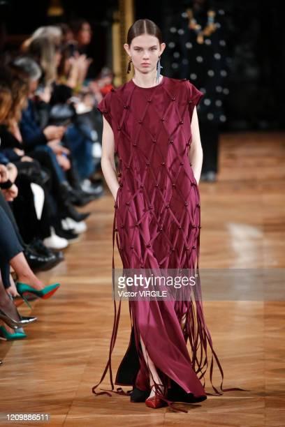 Model walks the runway during the Stella McCartney Ready to Wear fashion show as part of the Paris Fashion Week Womenswear Fall/Winter 2020-2021 on...