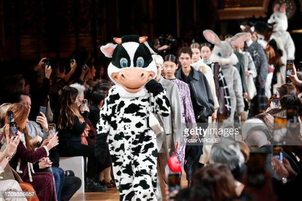 A model walks the runway during the Stella McCartney Ready to Wear fashion show as part of the Paris Fashion Week Womenswear Fall/Winter 20202021 on...