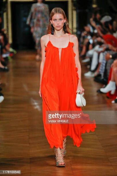 Model walks the runway during the Stella McCartney Ready to Wear Spring/Summer 2020 fashion show as part of Paris Fashion Week on September 30, 2019...