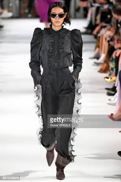 A model walks the runway during the Stella McCartney Ready to Wear Spring/Summer 2018 fashion show as part of the Paris Fashion Week Womenswear...