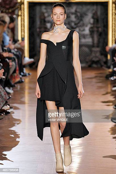 A model walks the runway during the Stella McCartney show as part of the Paris Fashion Week Womenswear Fall/Winter 2015/2016 on March 9 2015 in Paris...