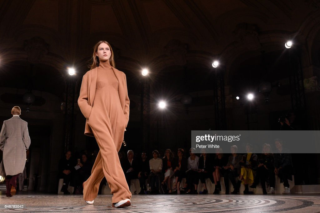 A model walks the runway during the Stella McCartney show as part of the Paris Fashion Week Womenswear Fall/Winter 2017/2018 on March 6, 2017 in Paris, France.