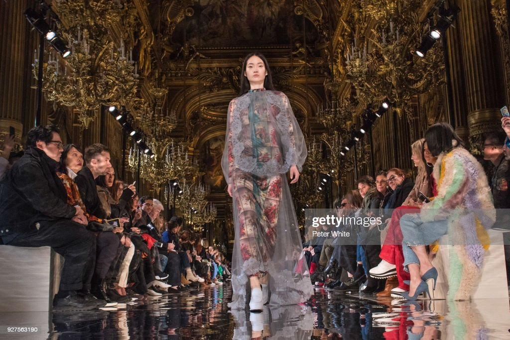 A model walks the runway during the Stella McCartney show as part of the Paris Fashion Week Womenswear Fall/Winter 2018/2019 on March 5, 2018 in Paris, France.