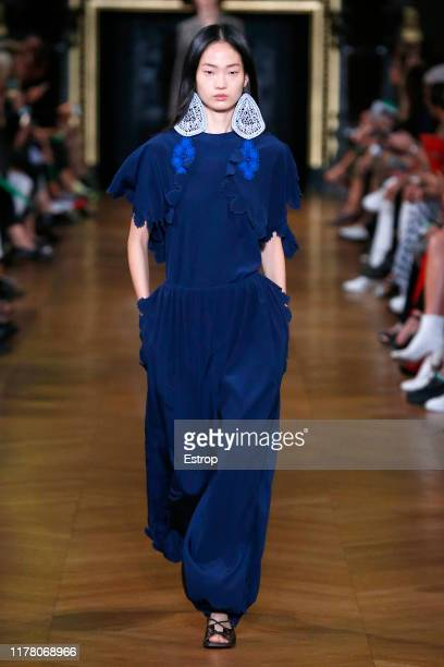 Model walks the runway during the Stella McCartney Womenswear Spring/Summer 2020 show as part of Paris Fashion Week on September 30, 2019 in Paris,...