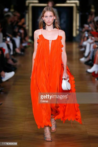 A model walks the runway during the Stella McCartney Womenswear Spring/Summer 2020 show as part of Paris Fashion Week on September 30 2019 in Paris...