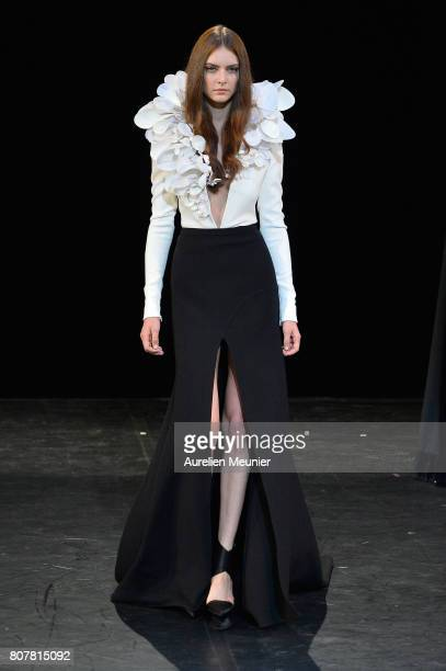 A model walks the runway during the Stephane Rolland Haute Couture Fall/Winter 20172018 show as part of Haute Couture Paris Fashion Week on July 4...