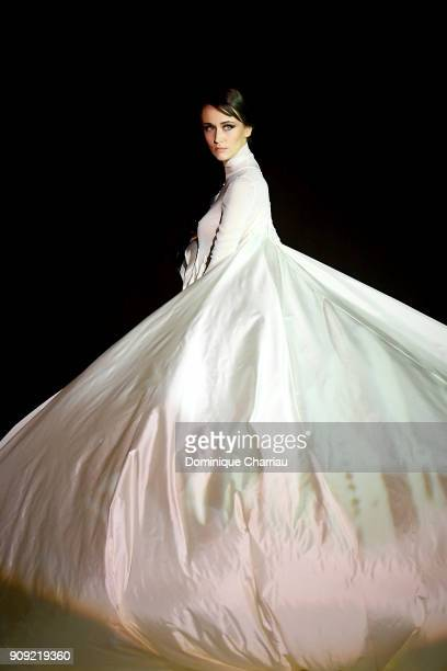 A model walks the runway during the Stephane Rolland Haute Couture Spring Summer 2018 show as part of Paris Fashion Week on January 23 2018 in Paris...