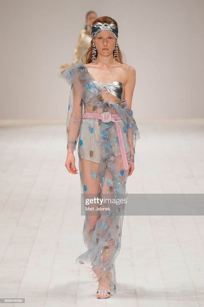A model walks the runway during the Still Still Studio show at Mercedes-Benz Fashion Week Resort 19 Collections at Carriageworks on May 17, 2018 in Sydney, Australia.