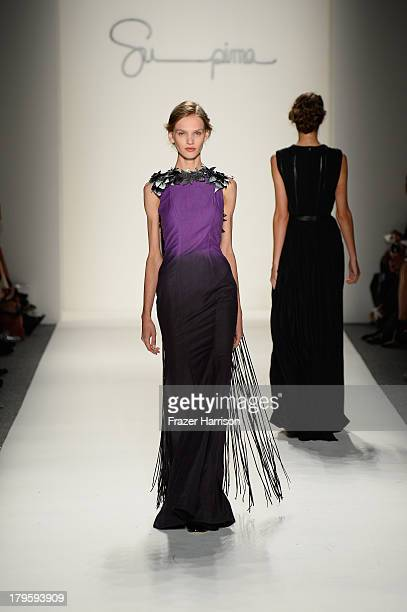 A model walks the runway during the Supima Spring 2014 fashion show at MercedesBenz Fashion Week Spring 2014 Official Coverage Best Of Runway Day 1...