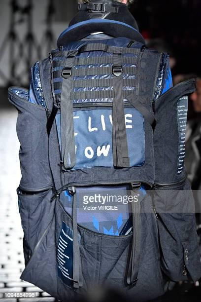 A model walks the runway during the Takahiro Miyashita The Soloist Menswear Fall/Winter 20192020 fashion show as part of Paris Fashion Week on...