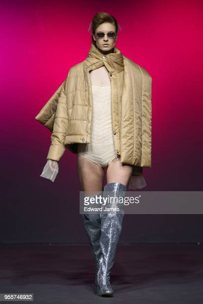 A model walks the runway during the Tako Mekvabidze Fall/Winter 2018/2019 Collection fashion show at MercedesBenz Fashion Week Tbilisi on May 7 2018...