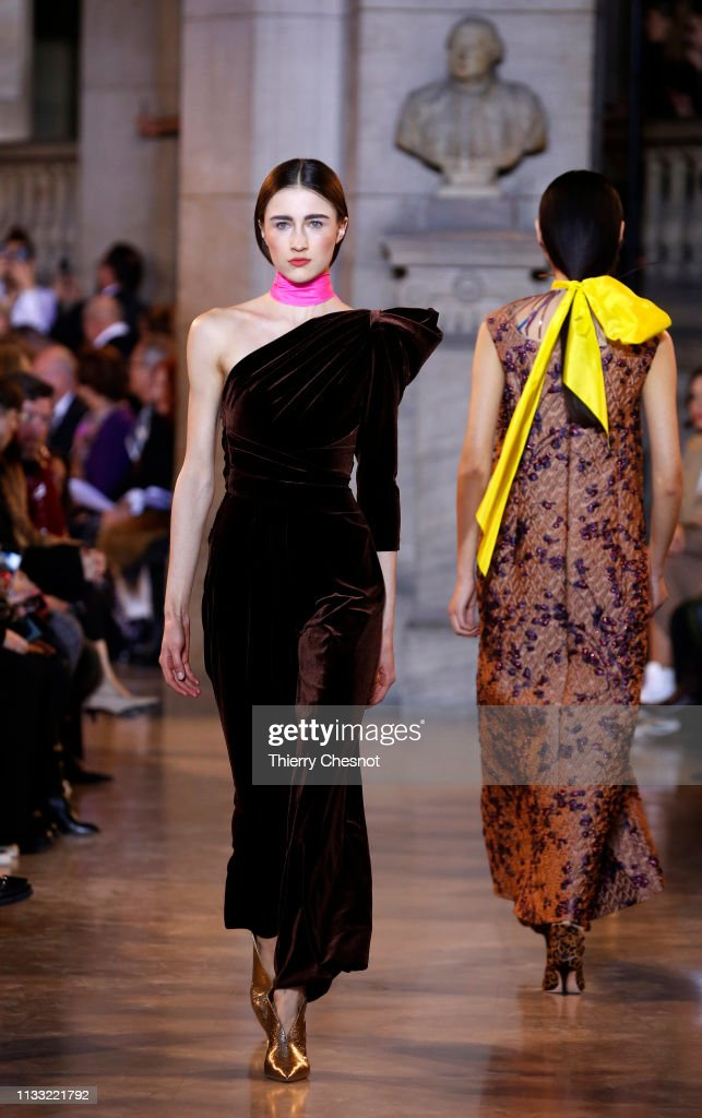 model-walks-the-runway-during-the-talbot-runhof-show-as-part-of-the-picture-id1133221792