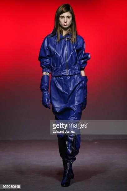 A model walks the runway during the Tamuna Ingorokva Fall/Winter 2018/2019 Collection fashion show at MercedesBenz Fashion Week Tbilisi on May 5 2018...
