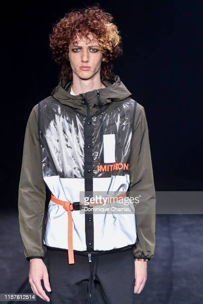 A model walks the runway during the Tatras Menswear Spring Summer 2020 show as part of Paris Fashion Week on June 22 2019 in Paris France