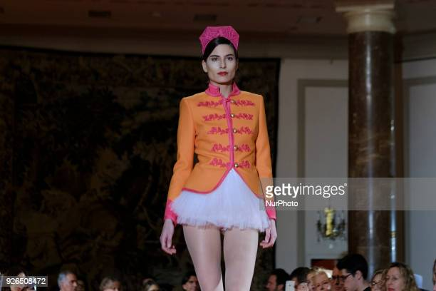 Model walks the runway during the 'The Extreme Collection' fashion show at Wellington Hotel on March 2, 2018 in Madrid, Spain.