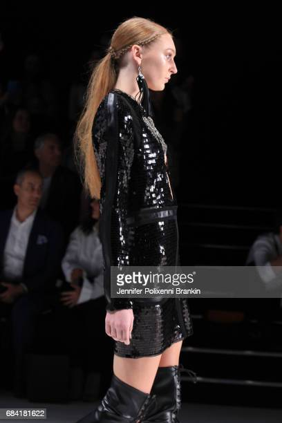 A model walks the runway during the The Innovators Fashion Design Studio show at MercedesBenz Fashion Week Resort 18 Collections at Carriageworks on...