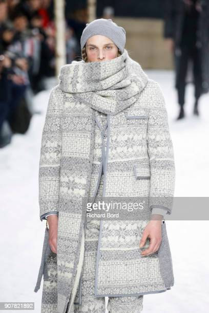 A model walks the runway during the Thom Browne Menswear Fall/Winter 20182019 show at Ecole des Beaux Arts as part of Paris Fashion Week on January...