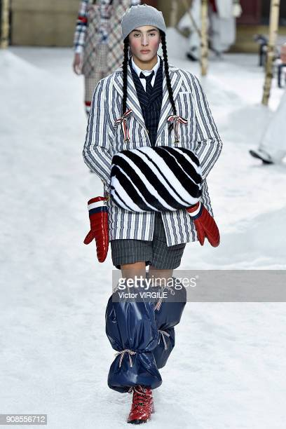 A model walks the runway during the Thom Browne Menswear Fall/Winter 20182019 show as part of Paris Fashion Week on January 20 2018 in Paris France