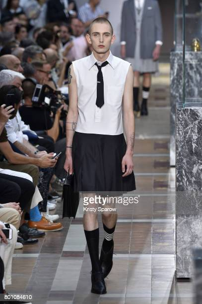A model walks the runway during the Thom Browne Menswear Spring/Summer 2018 show as part of Paris Fashion Week on June 25 2017 in Paris France