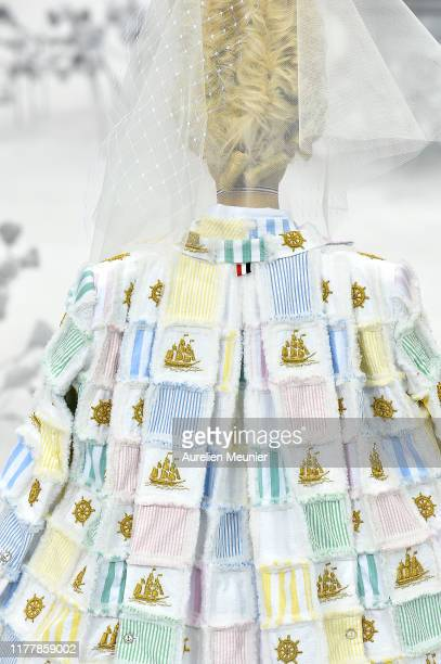 Model walks the runway during the Thom Browne Womenswear Spring/Summer 2020 show as part of Paris Fashion Week on September 29, 2019 in Paris, France.