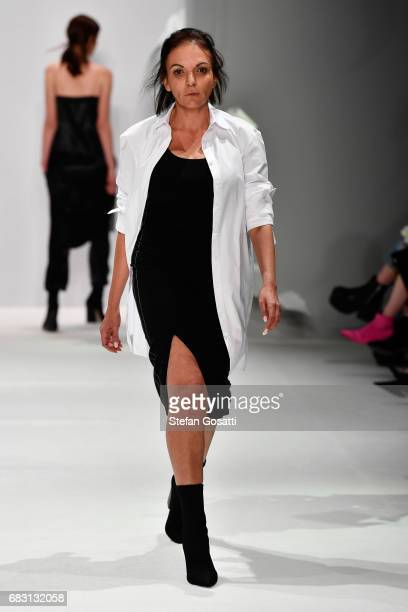 A model walks the runway during the Thomas Puttick show at MercedesBenz Fashion Week Resort 18 Collections at Carriageworks on May 15 2017 in Sydney...
