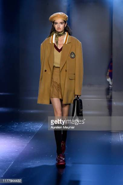 A model walks the runway during the Tmall Cool China Womenswear Spring/Summer 2020 show as part of Paris Fashion Week on September 29 2019 in Paris...