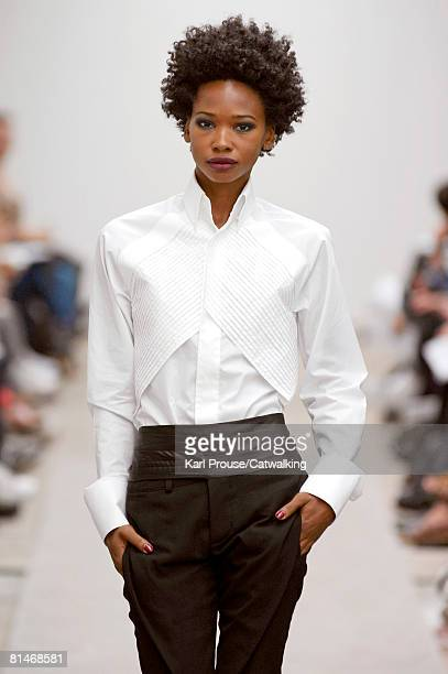 A model walks the runway during the Todd Lynn Spring Summer 2008 collection show part of London Fashion Week on the 16th of September 2007 in...