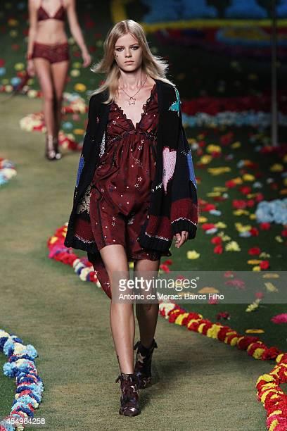 a6e9f67dec92 A model walks the runway during the Tommy Hilfiger show at MercedesBenz  Fashion Week Spring 2015