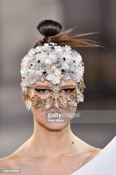 Model walks the runway during the Tony Ward Spring Summer 2019 show as part of Paris Fashion Week on January 21, 2019 in Paris, France.