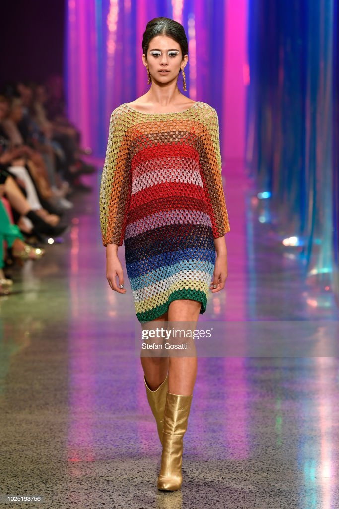 A model walks the runway during the Trelise Cooper show during New