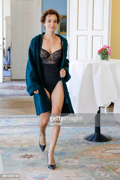 A model walks the runway during the Triumph Florale Lunch on June 1 2017 in Hamburg Germany