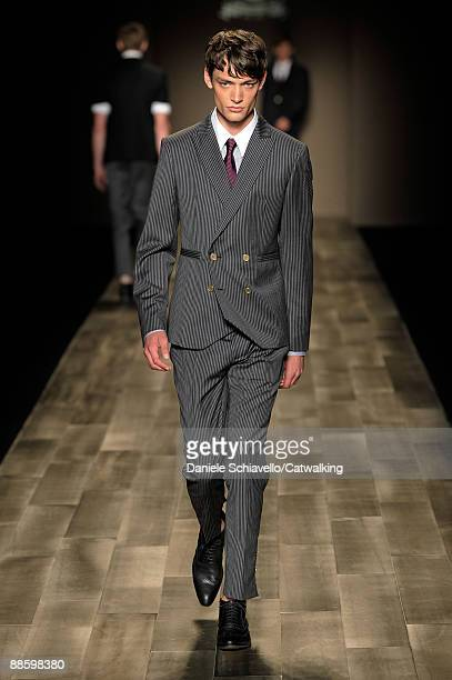 A model walks the runway during the Trussardi 1911 fashion show at Milan Fashion Week Menswear Spring/Summer 2010 on June 20 2009 in Milan Italy