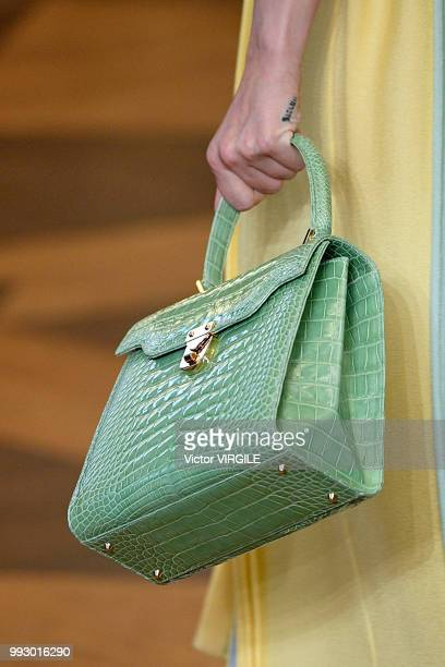 A model walks the runway during the Ulyana Sergeenko Haute Couture Fall Winter 2018/2019 fashion show as part of Paris Fashion Week on July 3 2018 in...
