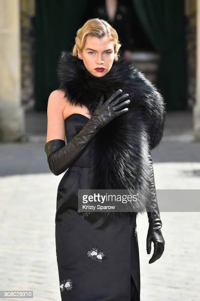 A model walks the runway during the Ulyana Sergeenko Haute Couture Fall/Winter 20172018 show as part of Haute Couture Paris Fashion Week on July 4...