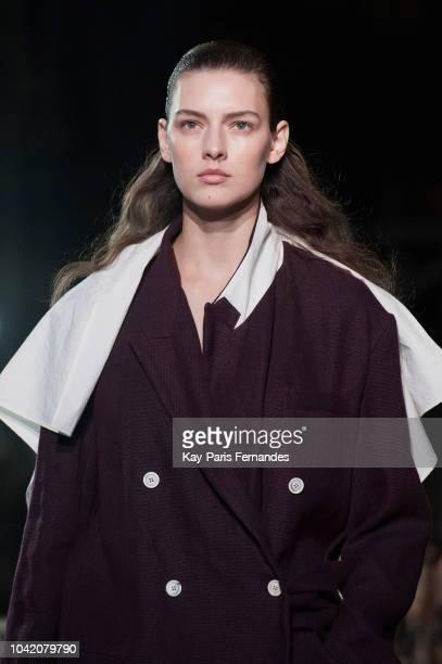 5423b897686 A model walks the runway during the Uma Wang show as part of the Paris  Fashion
