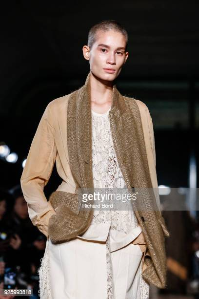 939996c3b50 A model walks the runway during the Uma Wang show at Lycee Henry IV as part