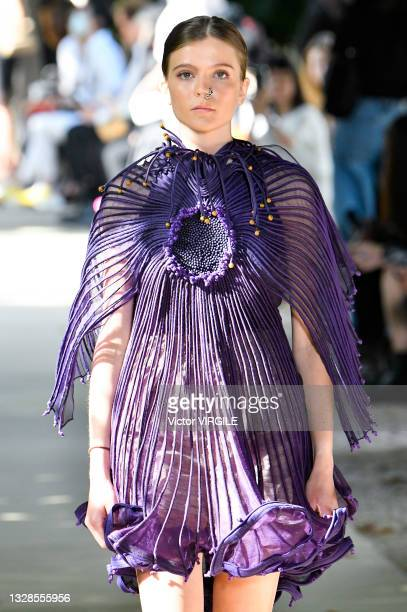 Model walks the runway during the Vaishali Haute Couture Fall/Winter 2021-2022 fashonn show as part of the Paris Haute Couture Fashion Week on July...