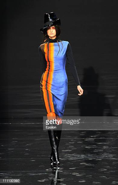 Model walks the runway during the Valentin Yudashkin show during the Volvo Fashion Week Moscow - Day 1 on March 29, 2011 in Moscow, Russia.