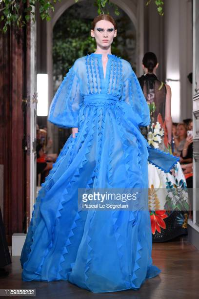 A model walks the runway during the Valentino Fall/Winter 2019 2020 show as part of Paris Fashion Week on July 03 2019 in Paris France