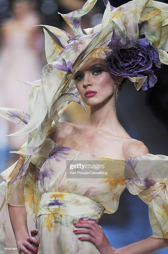 A model walks the runway during the Valentino Fashion Show part of Paris Spring/Summer 2008 Haute Couture Fashion Week on the 23rd of January 2008 in Paris,France